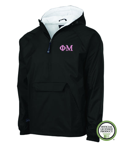 Phi Mu Charles River Lined Pullover Jacket