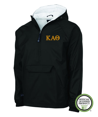 Kappa Alpha Theta Charles River Lined Pullover Jacket Sweetwater