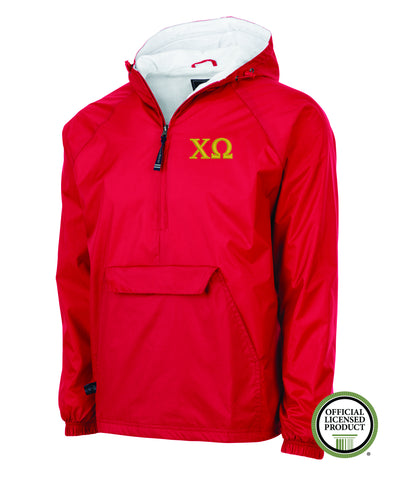 Chi Omega Charles River Lined Pullover Jacket