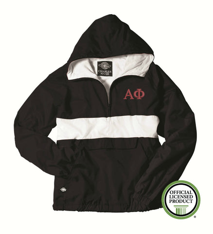 Alpha Phi Charles River Classic Striped Pullover 9908