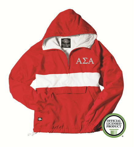 Alpha Sigma Alpha Charles River Classic Striped Pullover 9908
