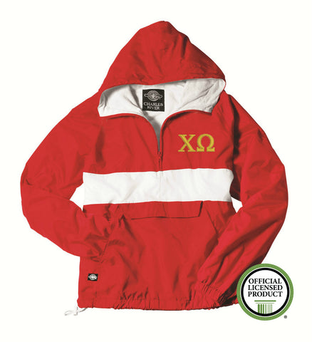 Chi Omega Charles River Classic Striped Pullover 9908