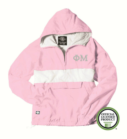 Phi Mu Charles River Classic Striped Pullover 9908