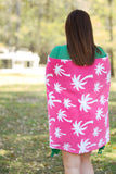 Hot Pink Palm Towel