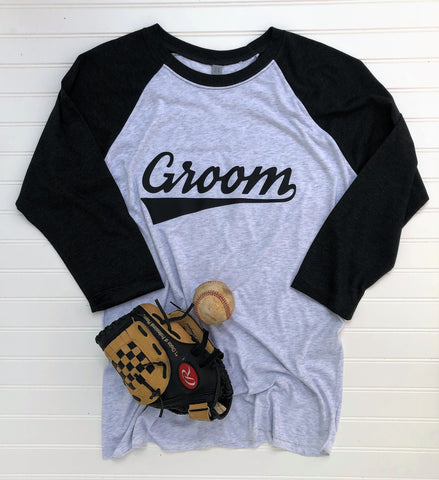 Groom Baseball Raglan Tee