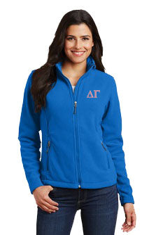 Delta Gamma Ladies Fleece Jacket