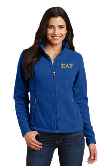 Sigma Delta Tau Ladies Fleece Jacket