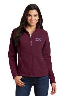 Sigma Kappa Ladies Fleece Jacket