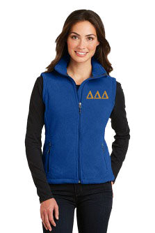 Delta Delta Delta Ladies Fleece Vest