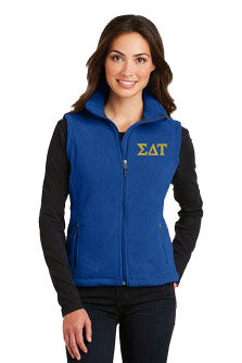 Sigma Delta Tau Ladies Fleece Vest