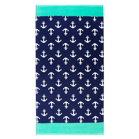 Navy Anchor Towel