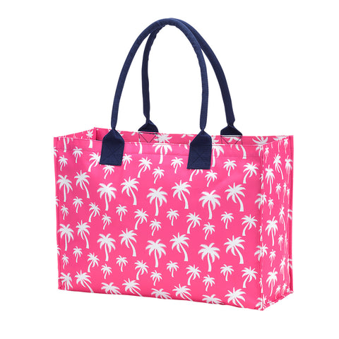 Hot Pink Palm Tote Bag