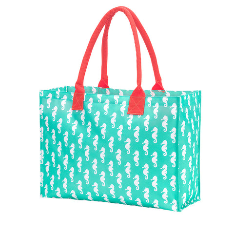 Mint Seahorse Tote Bag