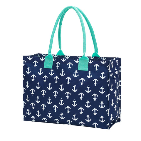 Navy Anchor Tote Bag