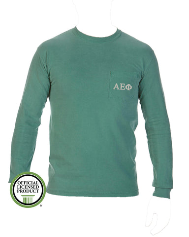 Alpha Epsilon Phi Long Sleeve Comfort Color Pocket Tee