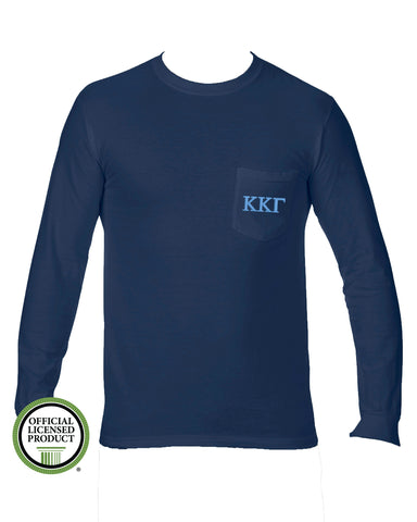 a8e73477c116 Kappa Kappa Gamma Long Sleeve Comfort Color Pocket Tee – Sweetwater ...