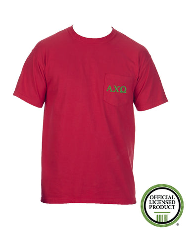 Alpha Chi Omega Short Sleeve Comfort Color Pocket Tee
