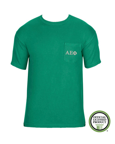 Alpha Epsilon Phi Short Sleeve Comfort Color Pocket Tee