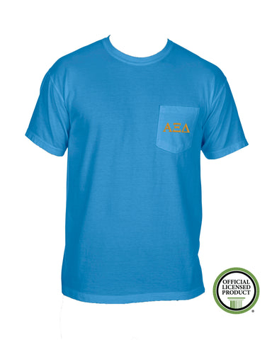 Alpha Xi Delta Short Sleeve Comfort Color Pocket Tee