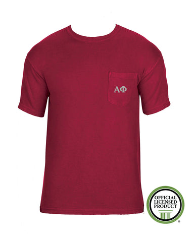 Alpha Phi Short Sleeve Comfort Color Pocket Tee