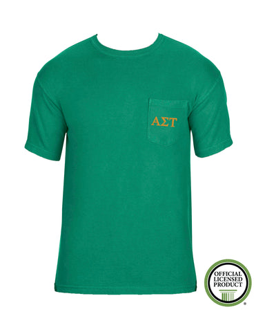 Alpha Sigma Tau Short Sleeve Comfort Color Pocket Tee