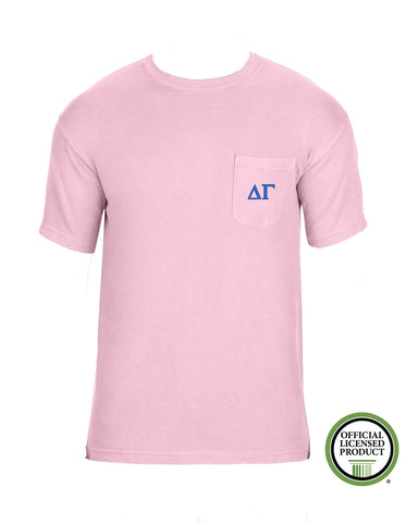 Delta Gamma Short Sleeve Comfort Color Pocket Tee