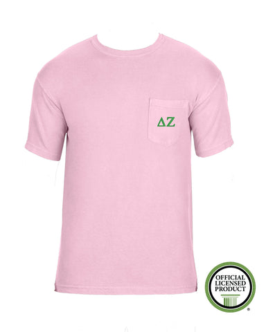 Delta Zeta Short Sleeve Comfort Color Pocket Tee