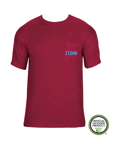 Pi Beta Phi Short Sleeve Comfort Color Pocket Tee