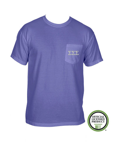 Sigma Sigma Sigma Short Sleeve Comfort Color Pocket Tee