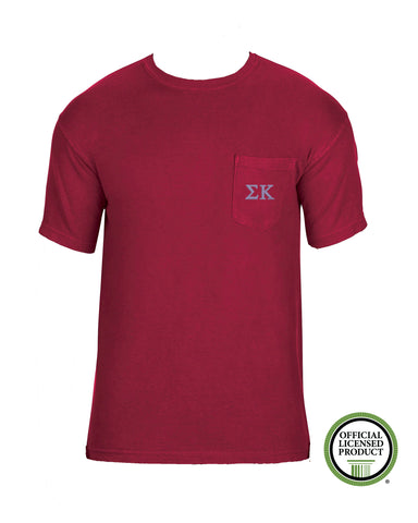 Sigma Kappa Short Sleeve Comfort Color Pocket Tee