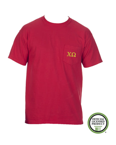 Chi Omega Short Sleeve Comfort Color Pocket Tee