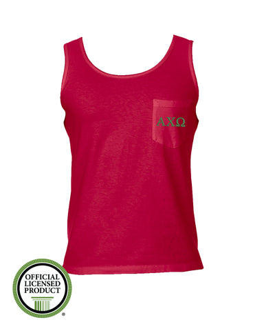 Alpha Chi Omega Comfort Color Pocket Tank