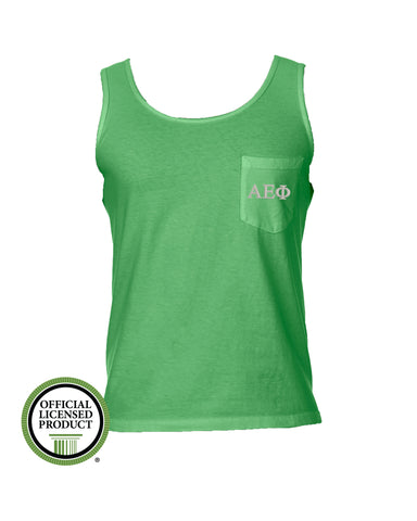 Alpha Epsilon Phi Comfort Color Pocket Tank