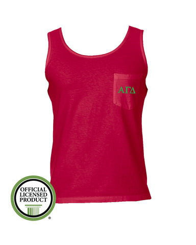Alpha Gamma Delta Comfort Color Pocket Tank