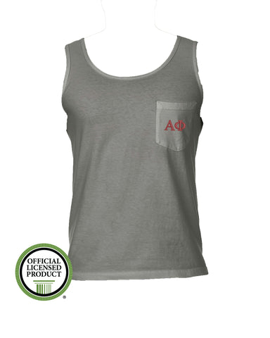 Alpha Phi Comfort Color Pocket Tank