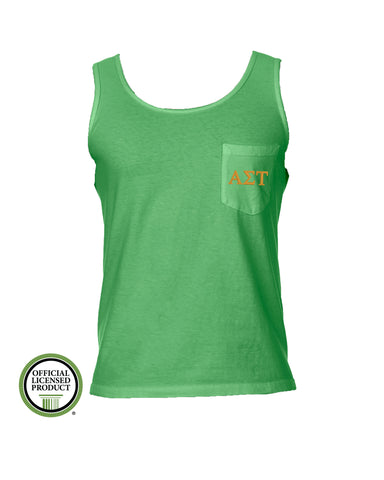 Alpha Sigma Tau Comfort Color Pocket Tank