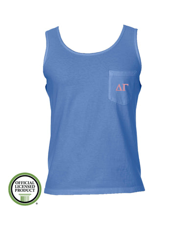 Delta Gamma Comfort Color Pocket Tank