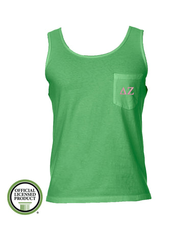 Delta Zeta Comfort Color Pocket Tank