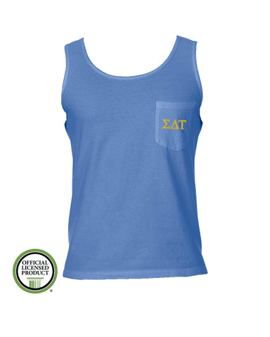 Sigma Delta Tau Comfort Color Pocket Tank