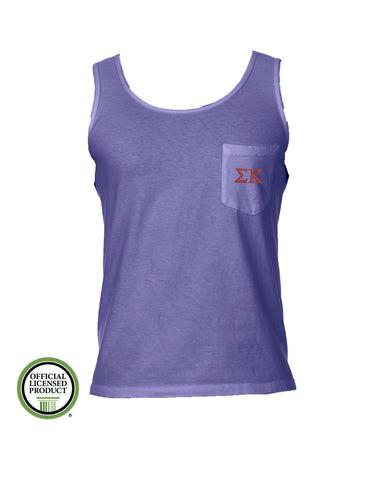 Sigma Kappa Comfort Color Pocket Tank