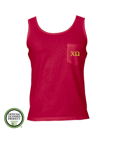 Chi Omega Comfort Color Pocket Tank