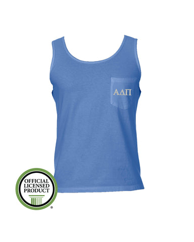 Alpha Delta Pi Comfort Color Pocket Tank