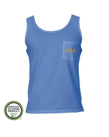 Delta Delta Delta Comfort Color Pocket Tank