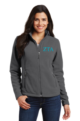 Zeta Tau Alpha Ladies Fleece Jacket