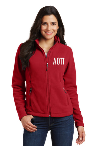 Alpha Omicron Pi Ladies Fleece Jacket