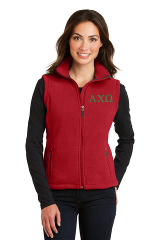 Alpha Chi Omega Ladies Fleece Vest