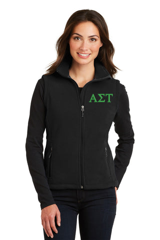 Alpha Sigma Tau Ladies Fleece Vest