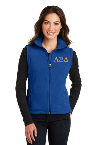 Alpha Xi Delta Ladies Fleece Vest
