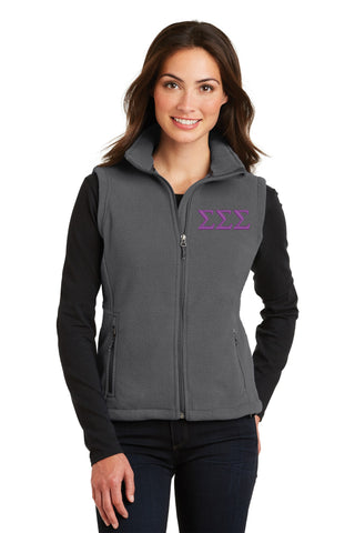 Sigma Sigma Sigma Ladies Fleece Vest