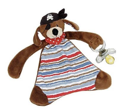 Pirate Puppy Pacifier Lovie